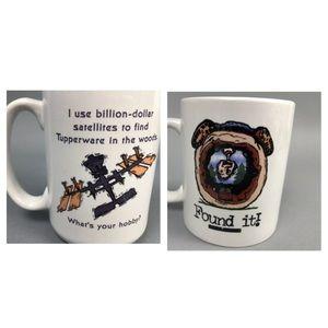 Geocaching coffee mug set treasure hunt